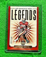JERRY RICE LEGENDS RED CARD SP #/299 SAN FRANCISCO 49ERS 2020 PANINI LEGACY SP