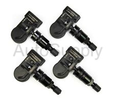 New Mini 433 mhz TPMS Sensor Set With Black Stems 2007 2008 2009 Mini Cooper