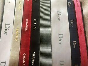 SALE - EMBOSSED ribbon AUTHENTIC designer  RARE christian dior chanel cd malone