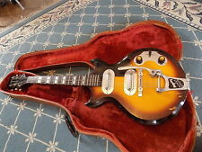 1957 Magnatone Mark V RARE electric guitar Sunburst BLOCK INLAYS w/Orig HSC