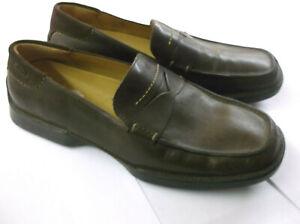 Hommes Clarks Marron Chaussures à Enfiler Moscou