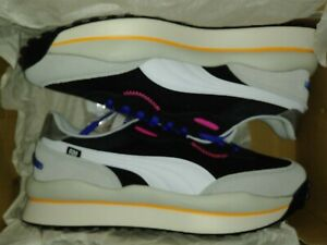 Puma Style Rider Play On P.Black-Hgh Rise-Gray Violet 371150-02 Men's Size 12