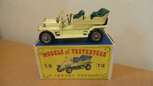 MATCHBOX LESNEY MODELS OF YESTERYEAR Y-16 SPYKER VETERAN AUTOMOBILE BOXED