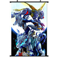 Digimon Adventure Tri Gabumon Omegamon Anime Silk Poster Wall Scroll  60*90cm