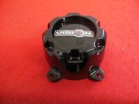 Vision Wheel Center Cap Gloss Black C622202CAP NEW