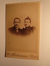 Paar - Mann mit Bart & Frau - Portrait / CDV C. Hirsbrunner Luzern