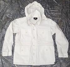 RRL RALPH LAUREN DOUBLE RL RRL WHITE FOUR POCKET UTILITY Jacket Coat Size LARGE