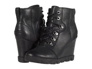 Women's Shoes Sorel JOAN UPTOWN LACE Leather Winter Boots 1915861010 BLACK