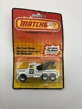 Matchbox Peterbilt Wreck Truck White #61 1983 Brand New On Card