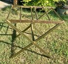 Antique Vintage Brass Folding Collapsible Luggage suitcase Rack Stand hotel