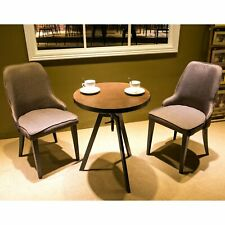 Metal Dining Chairs with Padded Seat and Back (BROWN) Set of 2