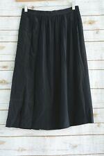 Vintage Yohanna Johanna PRET A PORTER - Black pleated SILK skirt, size 44 (XS-S)
