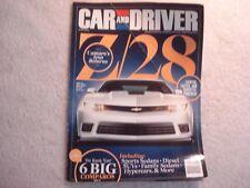 Car and Driver 2013 June Camaro Z/28 Chevrolet Impala Ford Fiesta ST Mercedes