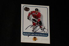 HOF MICHEL GOULET 2002 FLEER GREATS OF THE GAME SIGNED AUTOGRAPHED CARD #59
