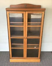 Retro Dixie Display Wooden Cabinet Glass Doors Removable Shelf's solid condition