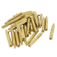 30Pcs M3 3mm Male Female Brass PCB Spacer Hex Stand-Off Pillar 30mm Z7T1