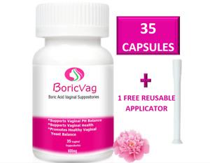 Boric Acid Suppositories Capsules   35 Capsules   FAST ACTION