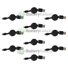 10 Micro Usb Retract Battery Charger Data Sync Cable Cord for Android Cell Phone