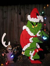 Grinch Yard Art The Grinch and Max are stealing Christmas!! Decorations Outdoor