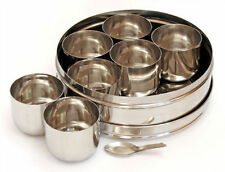 Stainless Steel Indian Spice Tin - Replacement inner bowls- For 20cm spice tin