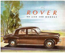 Rover 80 & 100 P4 1959-60 UK Market Foldout Sales Brochure