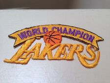 1980s World Champion Los Angeles LA Lakers Basketball Embroidered Iron On Patch