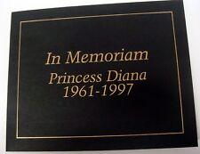 RARE! 97 PRINCESS DIANA CENTRAL AFRICA STAMP SHEETS IN MEMORIAM FOLDER MEDALLION