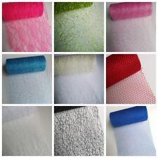 "6""Wide Lace  Glitter Netting  Stiff Tulle  Plain or Glitter Spider Net Fabric UK"