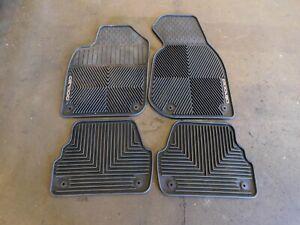 01-05 Audi Allroad OEM BLACK Floor Mats Rubber All Weather Front & Rear SET