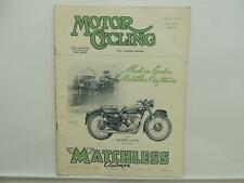 February 1953 MOTORCYCLING Magazine Matchless Clubman G3 LS L8352