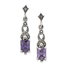 Butterfly Marcasite Sterling Silver Fine Earrings