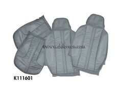 DMC - DELOREAN REPLACEMENT LEATHER/VINYL SEAT COVERS (GRAY)