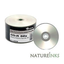 50x Traxdata Lato Completamente Stampabile Color argento CD-R 52x Dischi 700MB