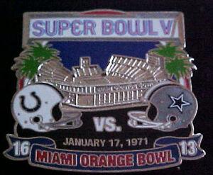Baltimore Colts v Cowboys Super Bowl 5 V Final Score Series Pin Willabee & Ward