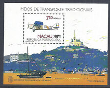 1989 Macau/Macao Airplane Over the Harbor SS - SC 604 S38 - MNH Fresh*