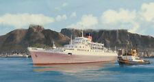 """RMS Windsor Castle Union Castle Liner Marine Painting Art Print - 17"""" Print"""