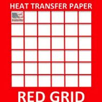 "HEAT TRANSFER PAPER RED GRID IRON ON LIGHT T SHIRT INKJET PAPER 200 PK 8.5""X11"