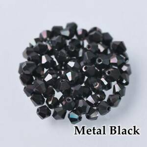 Wholesale 1000pcs 4mm Small Bicone Faceted Crystal Glass Loose Spacer Beads lot