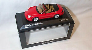 Porsche 911 Cabriolet Red 2001 New in Box ltd edition 1-43