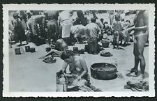 BALI NAKED WOMAN SITTING AT MARKET NUDE INDONESIA c1930s  Original Photo
