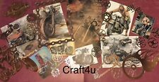 Craft clearout mix, card toppers/paper die cuts,bundle joblot vintage Motorbike