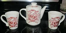 Classic Ceramics California Pantry Red Tea Pot Mugs Rooster & Hen Hot Chocolate