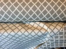 GREY TAN WHITE IKAT HARLEQUIN OUTDOOR UPHOLSTERY FABRIC