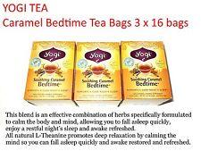3 x 16 bags YOGI TEA Soothing Caramel Bedtime Herbal Tea Bags ( Total: 48 )