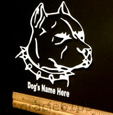 """Personalized Dog'S Name, Pitbull Vinyl Decal, Sticker 5 1/2""""Inches"""