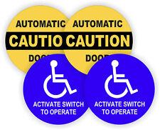 AUTOMATIC DOOR + ACTIVATE SWITCH TO OPERATE Vinyl Glass Door Decals Stickers USA