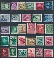 Lot Stamp Germany 1941 WWII Third Reich Hitler RAD Vienna Sets Mozart Horse MNH