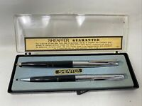 Vintage Sheaffer Pen & Pencil Set 202 203 Medium Black Silver