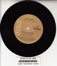 "EURYTHMICS  Thorn In My Side  7"" 45 rpm vinyl record + juke box title strip"