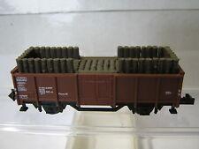 Minitrix N 3265 Hochbordwagen + Holzladung DB (RG/RP/356-6S5/2)